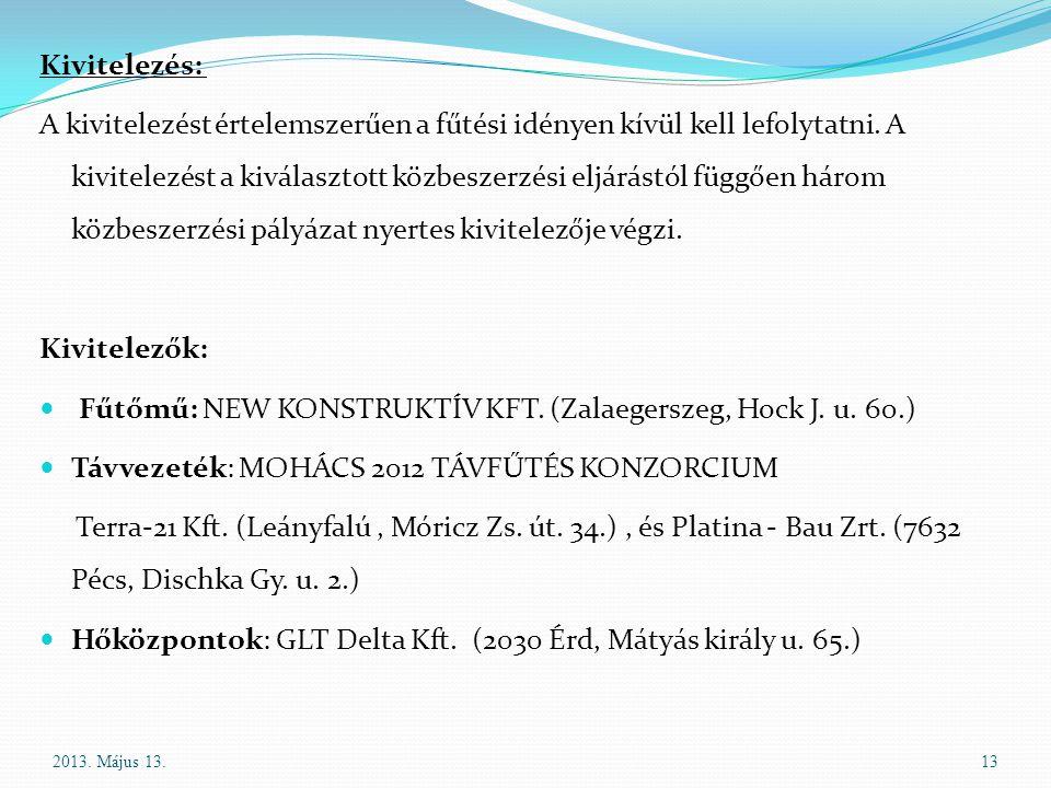 Fűtőmű: NEW KONSTRUKTÍV KFT. (Zalaegerszeg, Hock J. u. 60.)