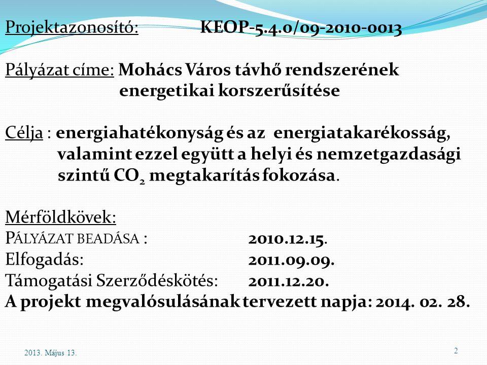Projektazonosító: KEOP-5.4.0/09-2010-0013