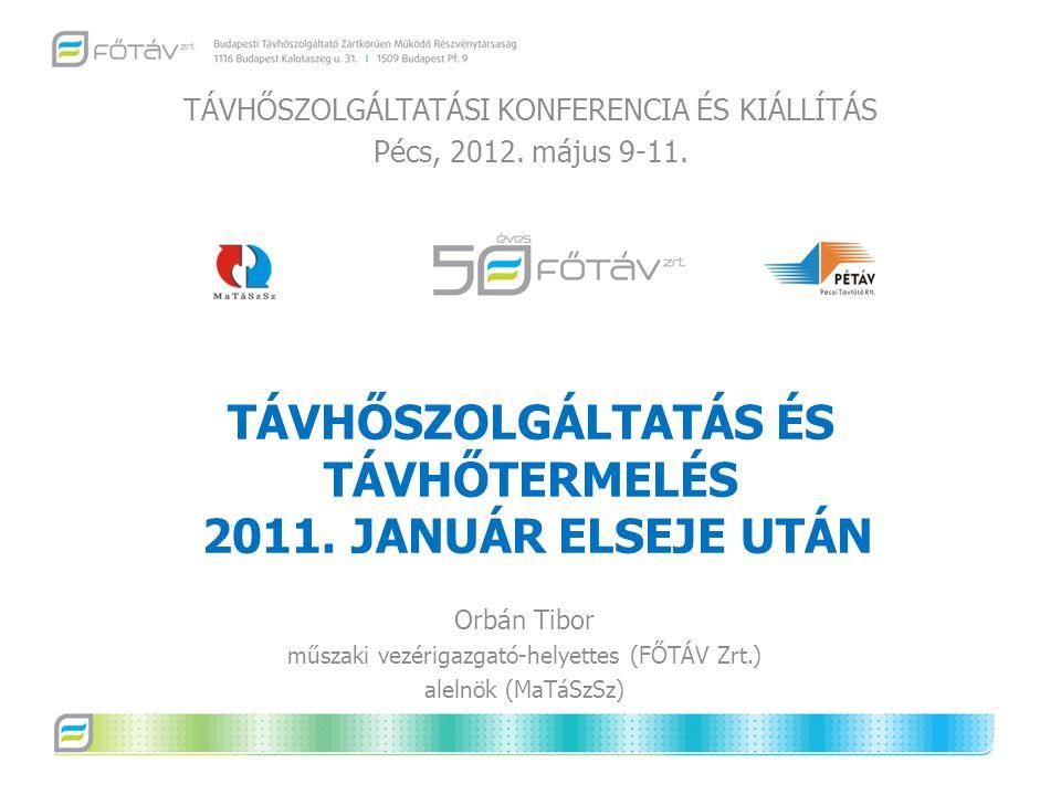 TÁVHŐSZOLGÁLTATÁS ÉS TÁVHŐTERMELÉS 2011. JANUÁR ELSEJE UTÁN