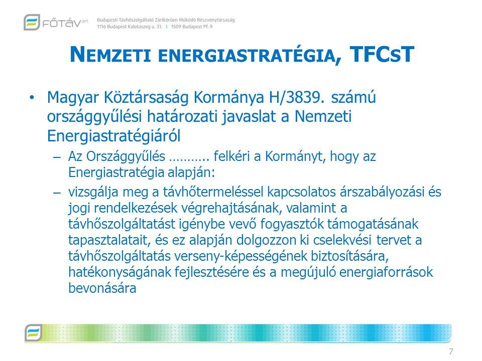 Nemzeti energiastratégia, TFCsT