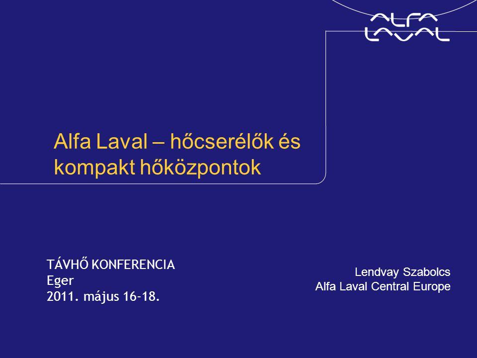 Alfa Laval – hőcserélők és kompakt hőközpontok
