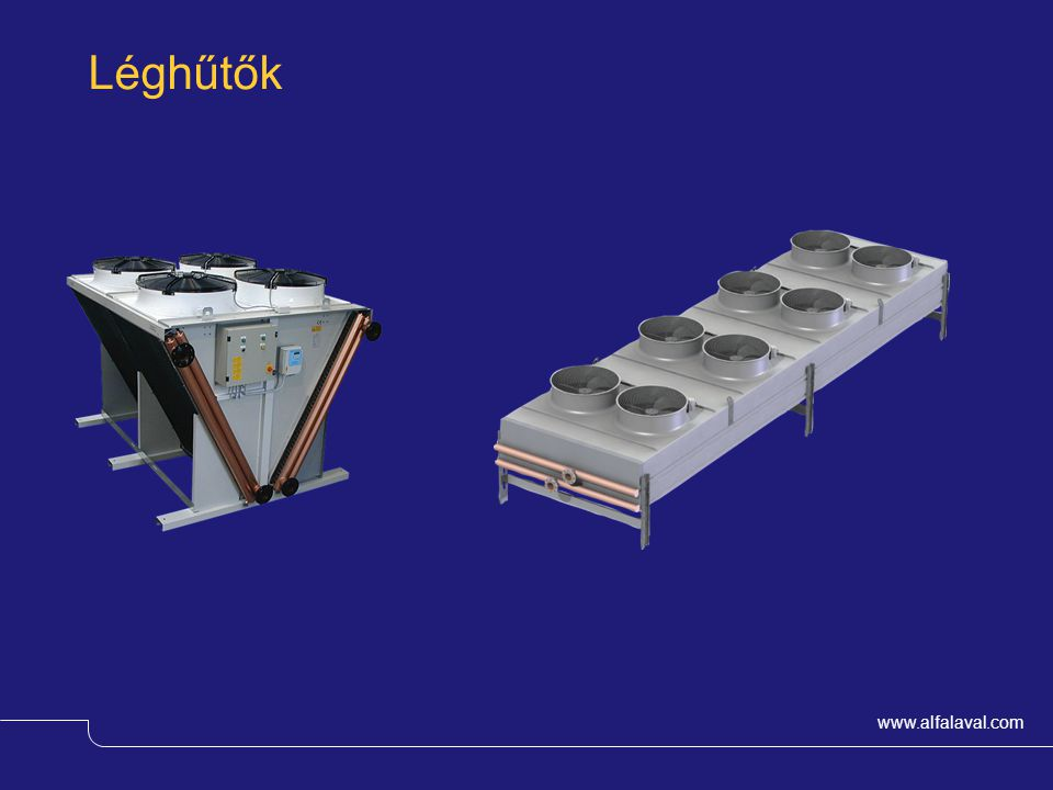 Léghűtők Alfa Laval has a range of Air Heat Exchangers suitable for different applications for either local cooling or district cooling.