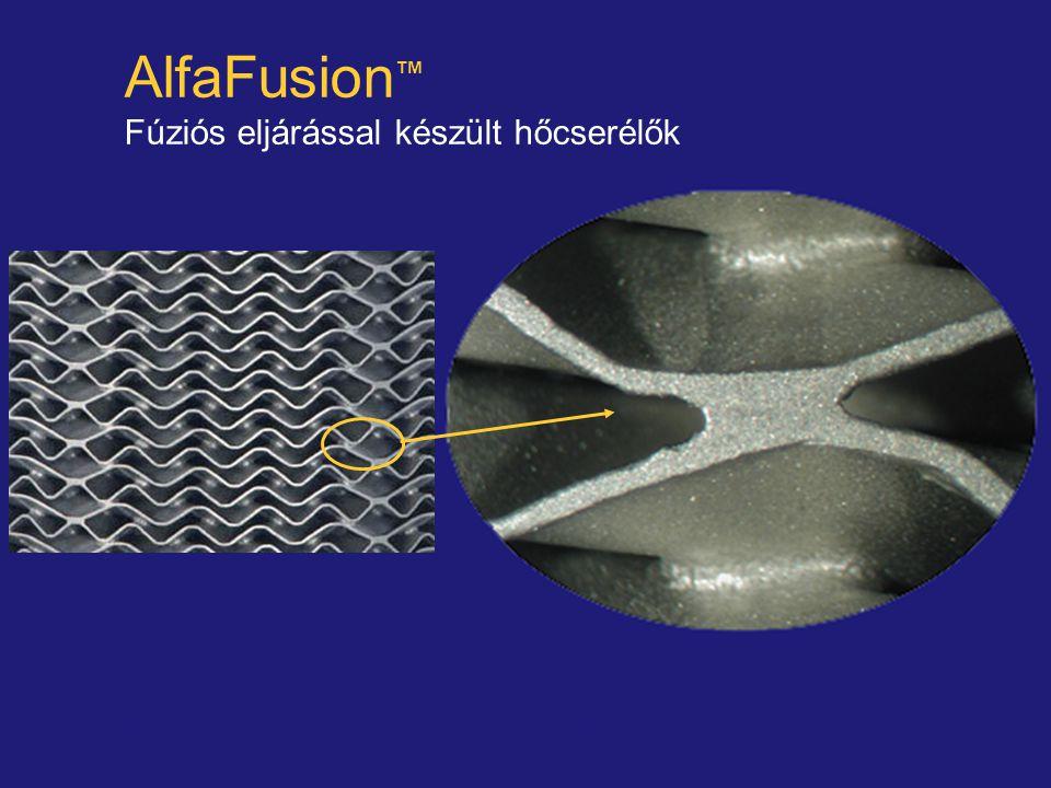 AlfaFusion™ Fúziós eljárással készült hőcserélők