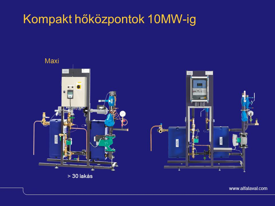 Kompakt hőközpontok 10MW-ig