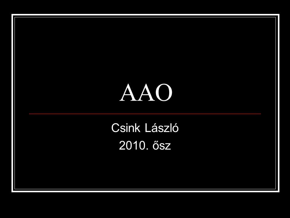 AAO Csink László 2010. ősz