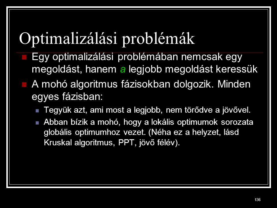 Optimalizálási problémák