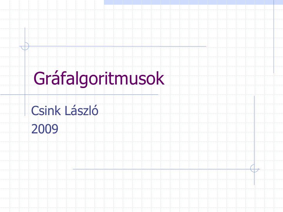 Gráfalgoritmusok Csink László 2009