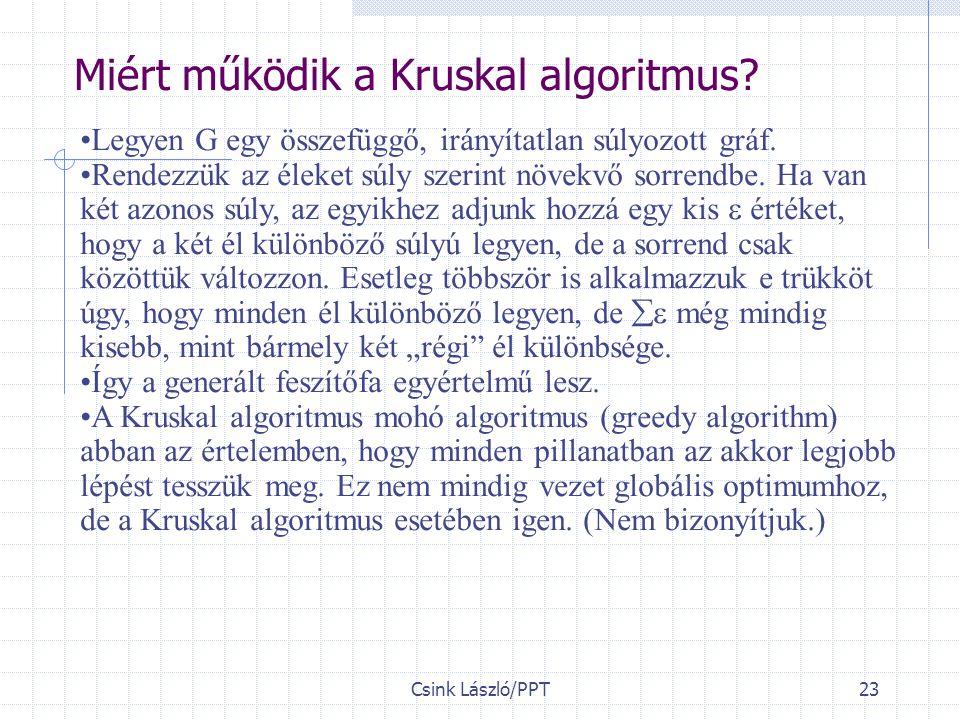 Miért működik a Kruskal algoritmus