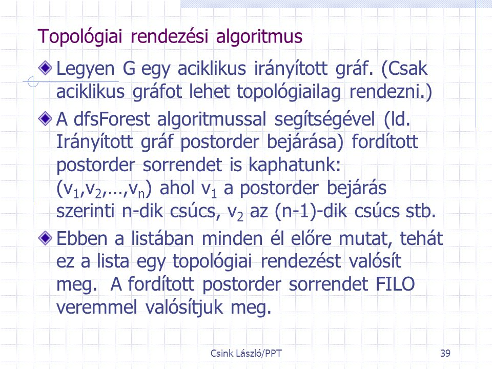 Topológiai rendezési algoritmus