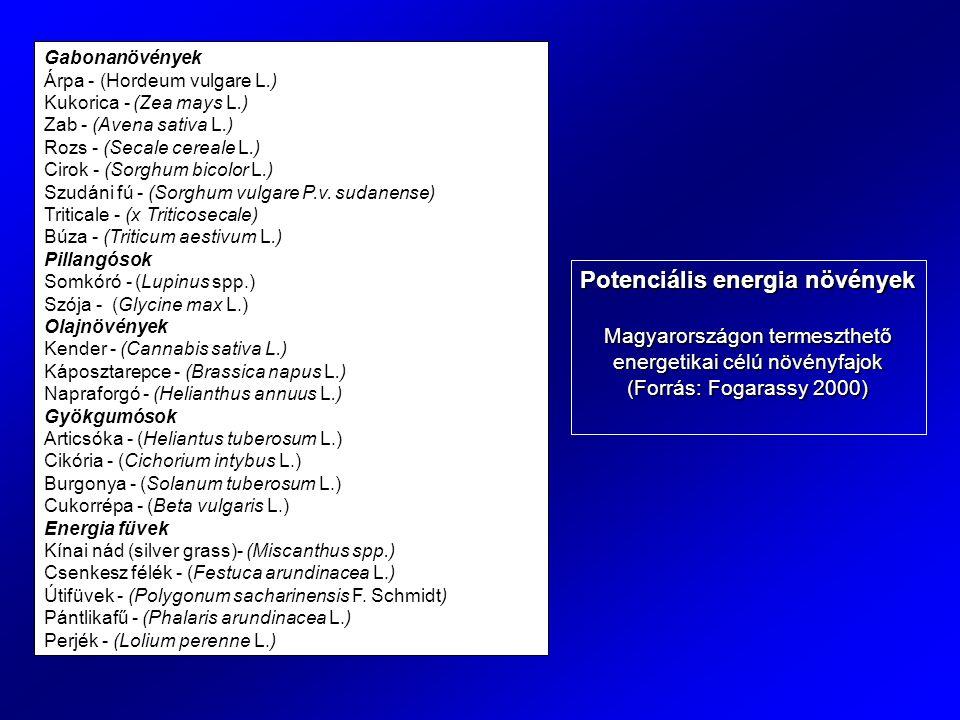 Potenciális energia növények