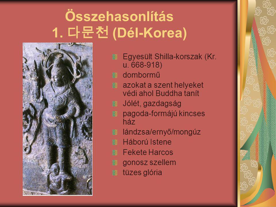 Összehasonlítás 1. 다문천 (Dél-Korea)