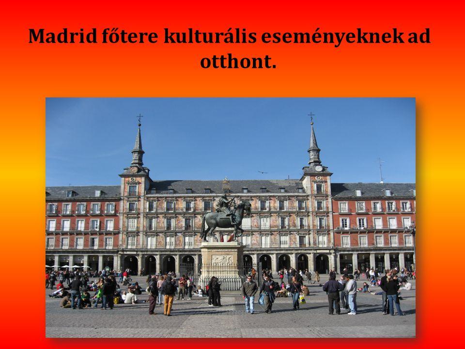 Madrid főtere kulturális eseményeknek ad otthont.