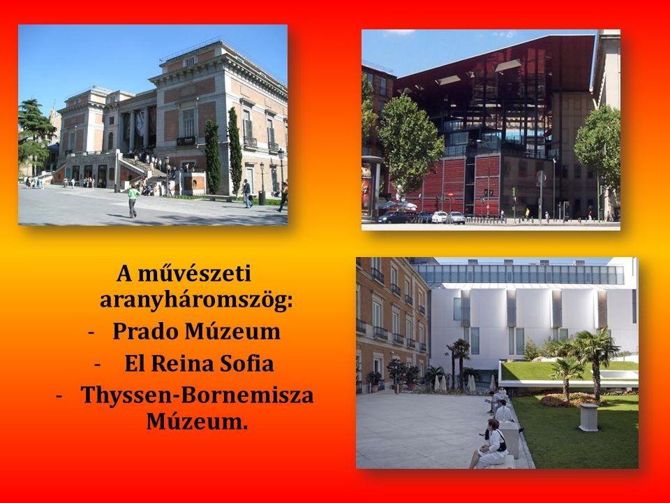 A művészeti aranyháromszög: Thyssen-Bornemisza Múzeum.