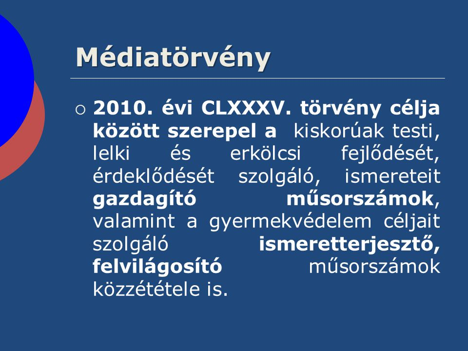 Médiatörvény