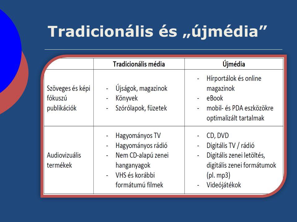 """Tradicionális és """"újmédia"""