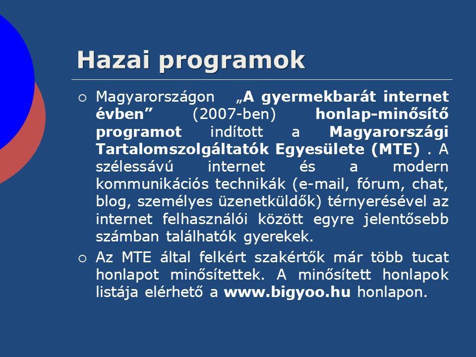 Hazai programok