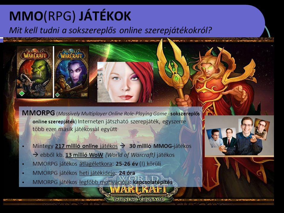 MMO(RPG) JÁTÉKOK Mit kell tudni a sokszereplős online szerepjátékokról