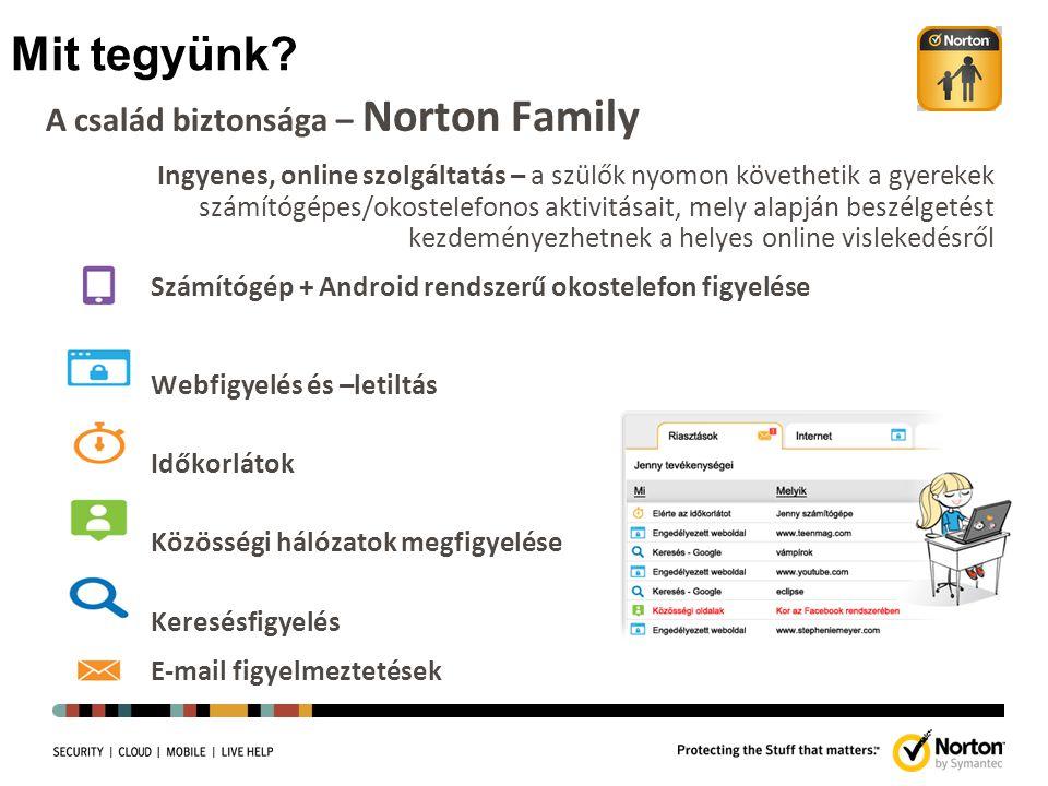 Mit tegyünk A család biztonsága – Norton Family