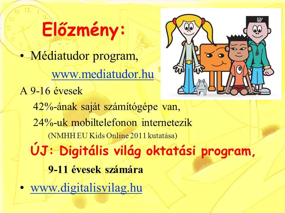 Előzmény: Médiatudor program, www.mediatudor.hu