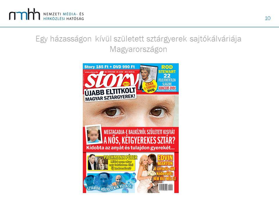 Egy házasságon kívül született sztárgyerek sajtókálváriája Magyarországon
