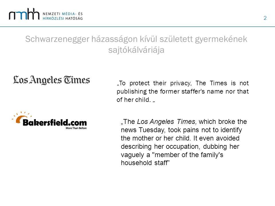 Schwarzenegger házasságon kívül született gyermekének sajtókálváriája