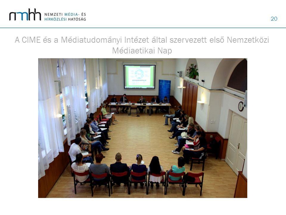 A CIME és a Médiatudományi Intézet által szervezett első Nemzetközi Médiaetikai Nap