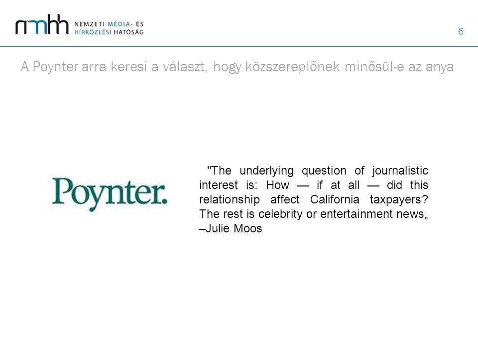 A Poynter arra keresi a választ, hogy közszereplőnek minősül-e az anya