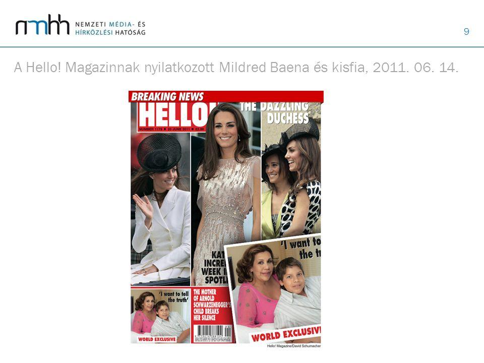 A Hello! Magazinnak nyilatkozott Mildred Baena és kisfia, 2011. 06. 14.