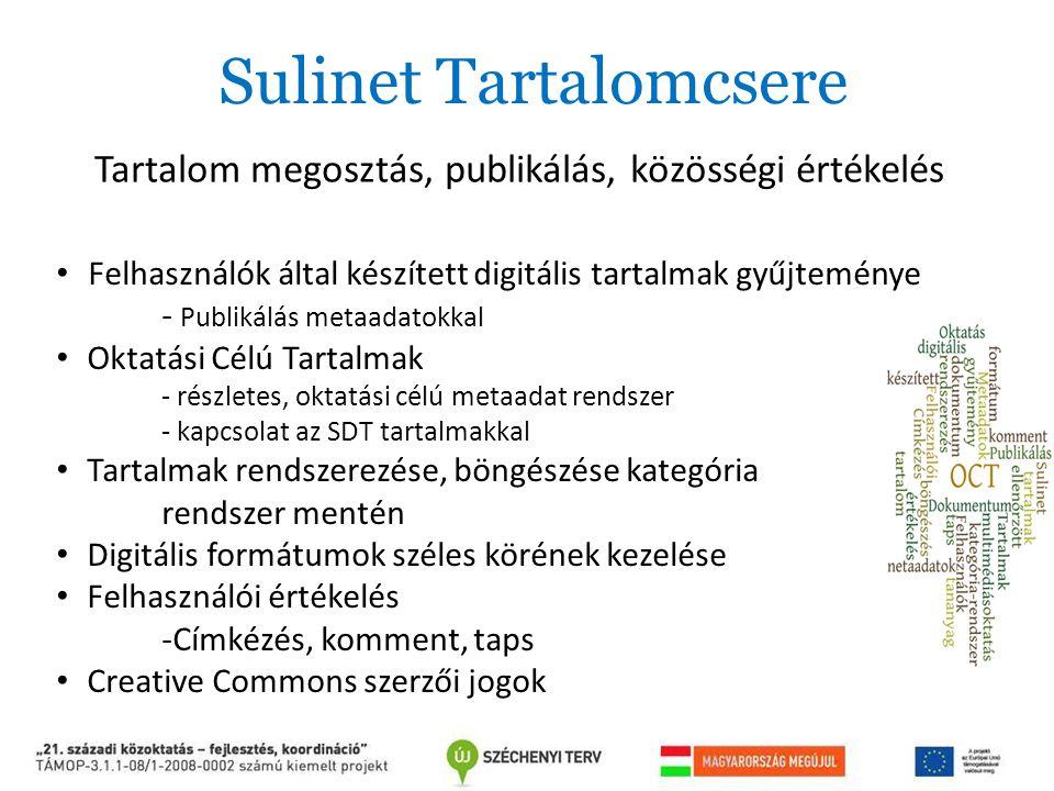Sulinet Tartalomcsere