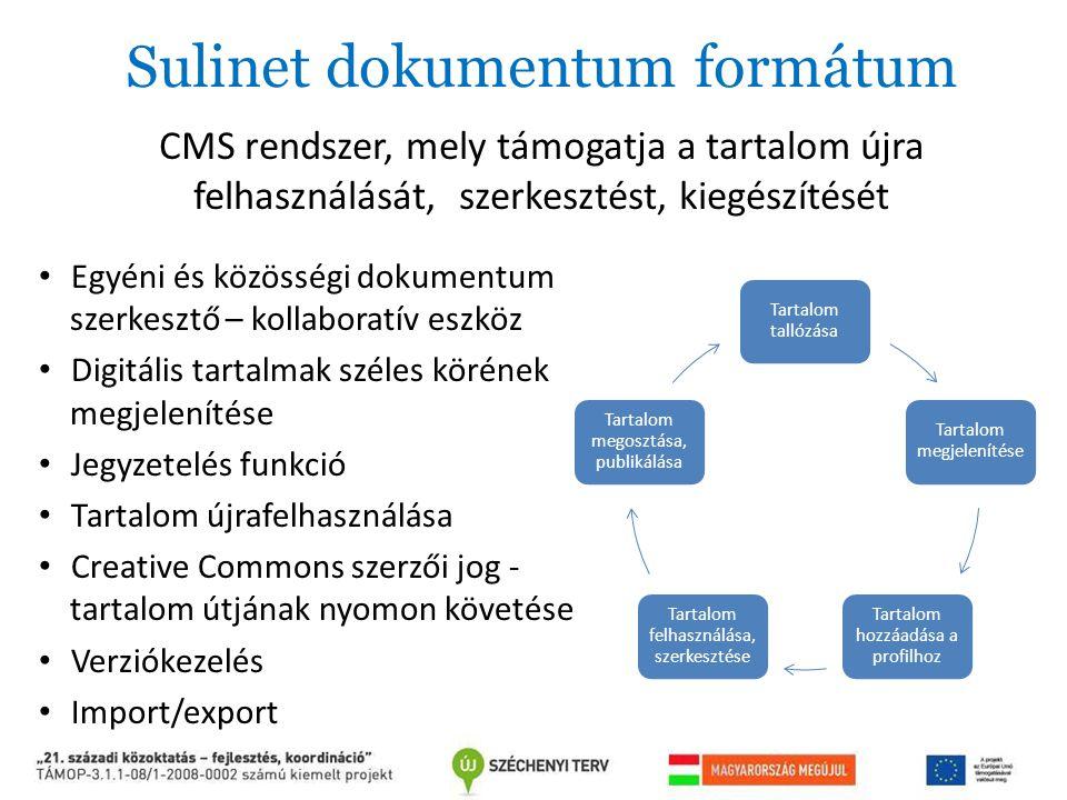 Sulinet dokumentum formátum