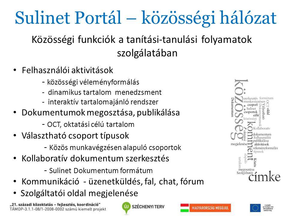 Sulinet Portál – közösségi hálózat