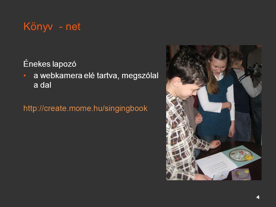 Könyv - net Énekes lapozó a webkamera elé tartva, megszólal a dal