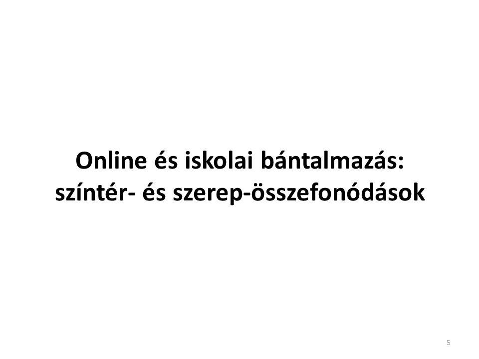 Online és iskolai bántalmazás: színtér- és szerep-összefonódások