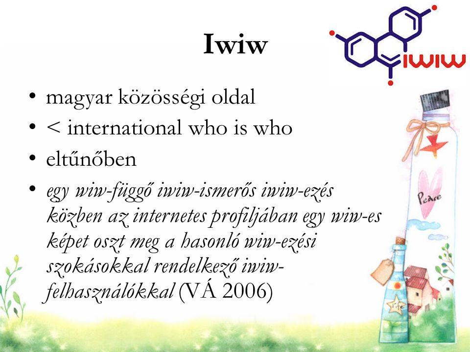 Iwiw magyar közösségi oldal < international who is who eltűnőben