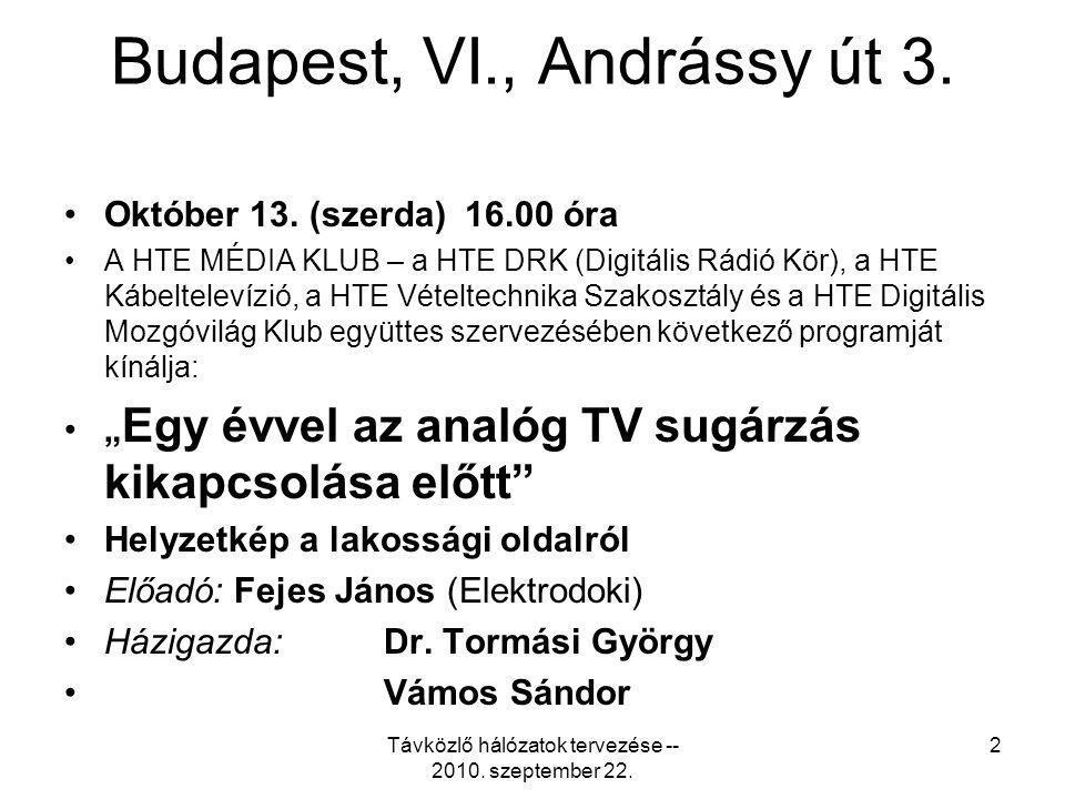 Budapest, VI., Andrássy út 3.