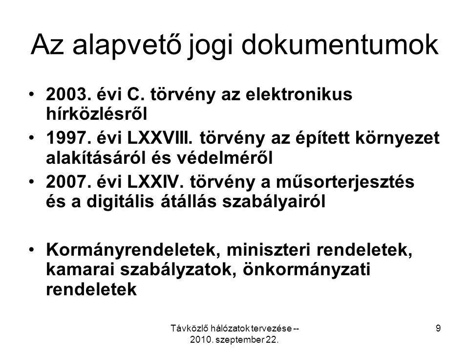 Az alapvető jogi dokumentumok