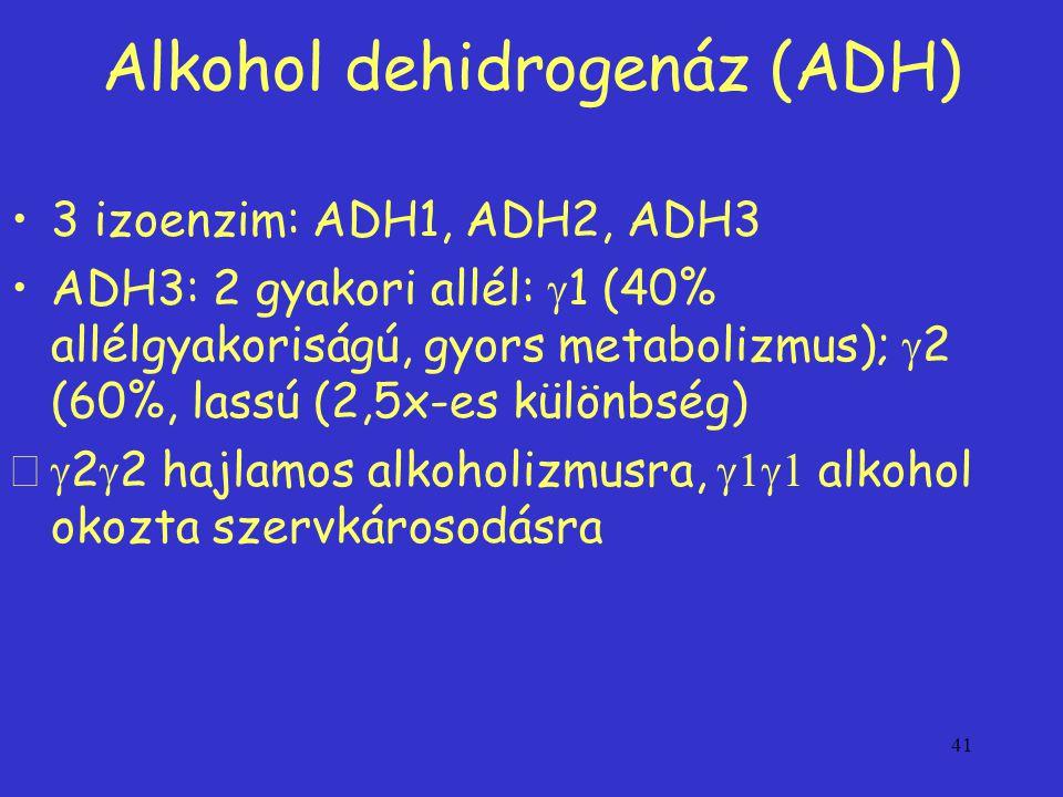 Alkohol dehidrogenáz (ADH)