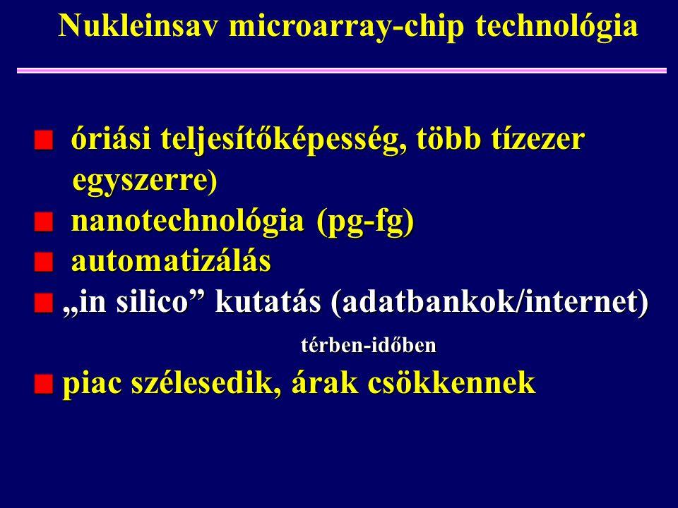 Nukleinsav microarray-chip technológia