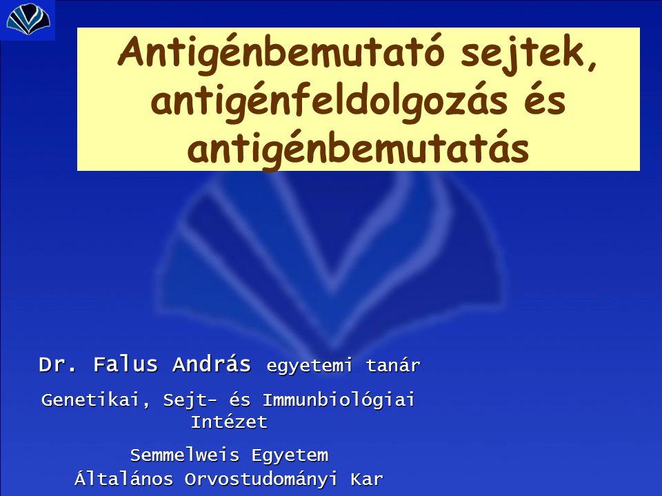 Antigénbemutató sejtek, antigénfeldolgozás és antigénbemutatás