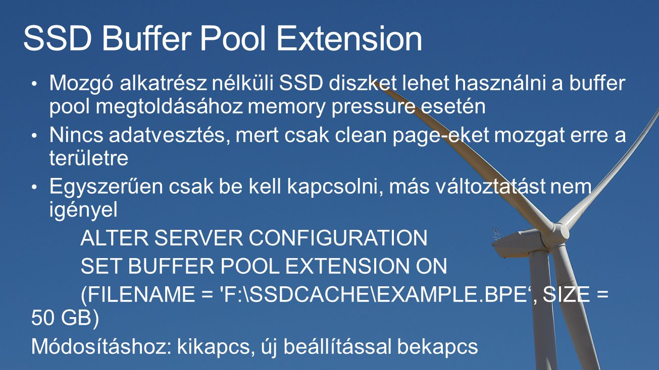 SSD Buffer Pool Extension