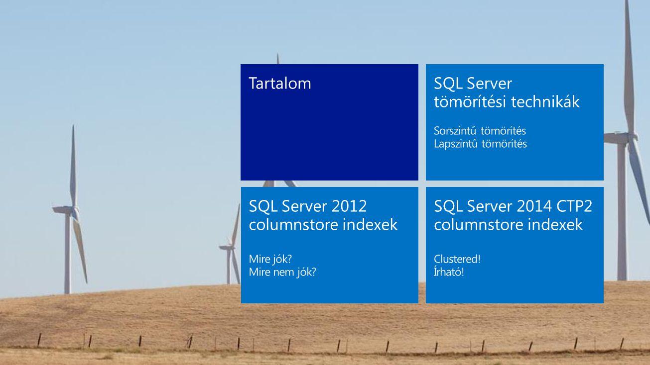 SQL Server tömörítési technikák