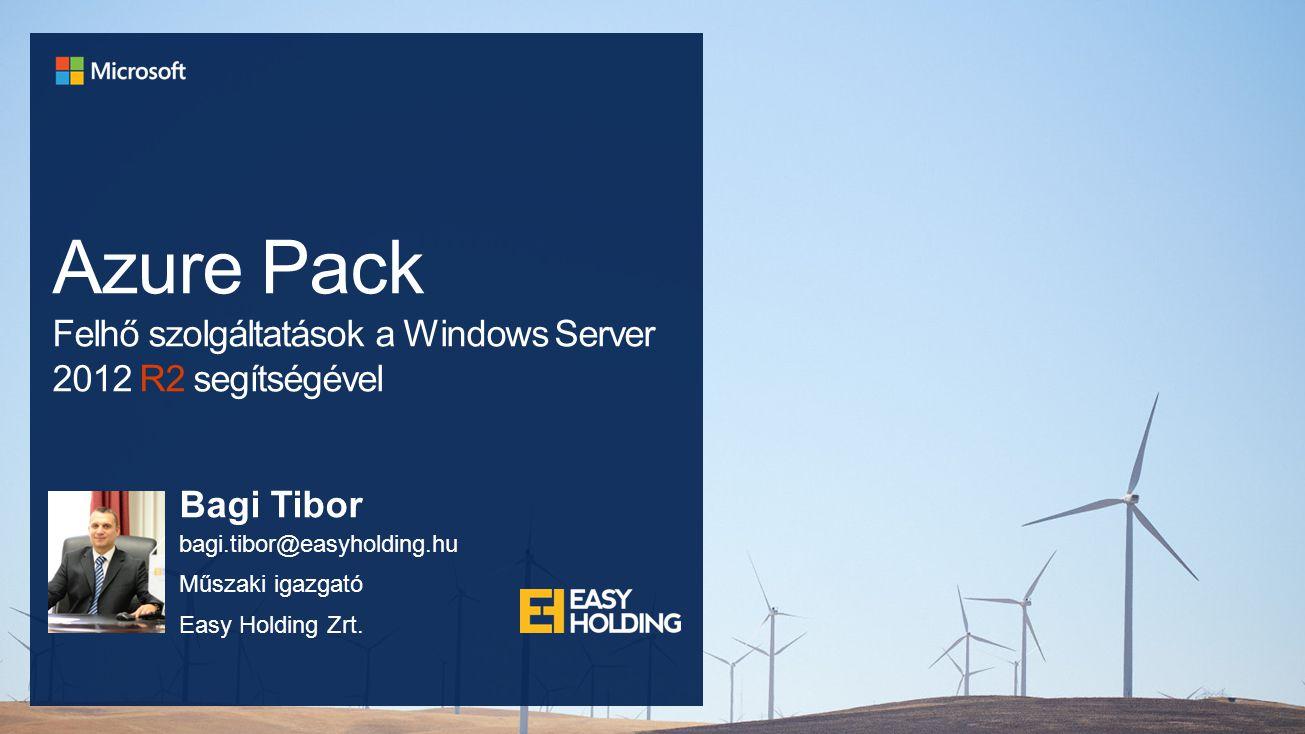 Azure Pack Felhő szolgáltatások a Windows Server 2012 R2 segítségével