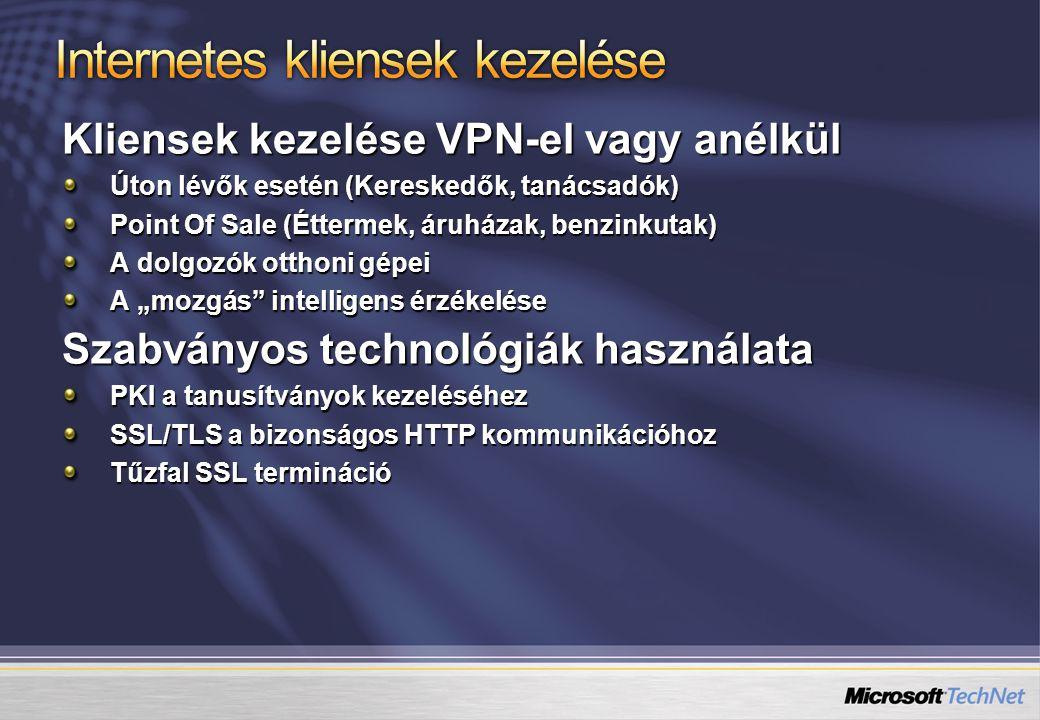 Internetes kliensek kezelése