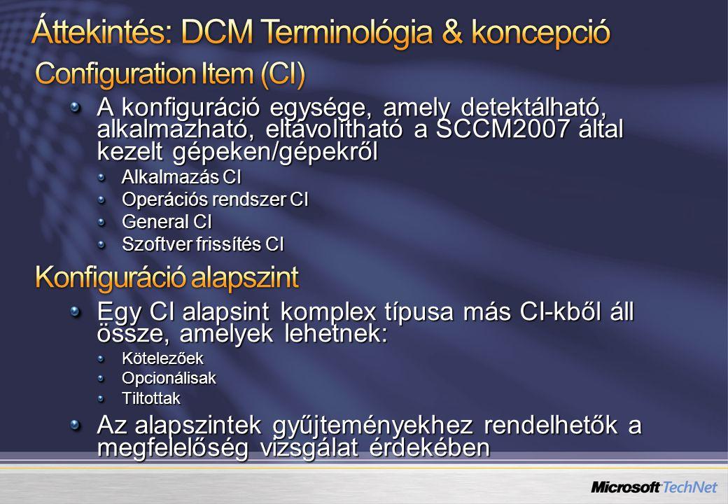 Áttekintés: DCM Terminológia & koncepció