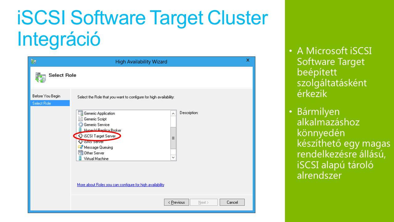 iSCSI Software Target Cluster Integráció