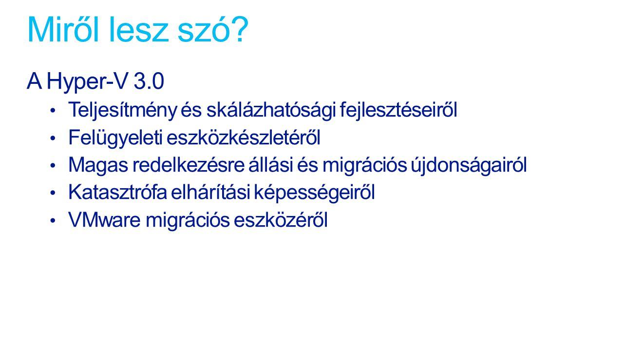 Miről lesz szó A Hyper-V 3.0