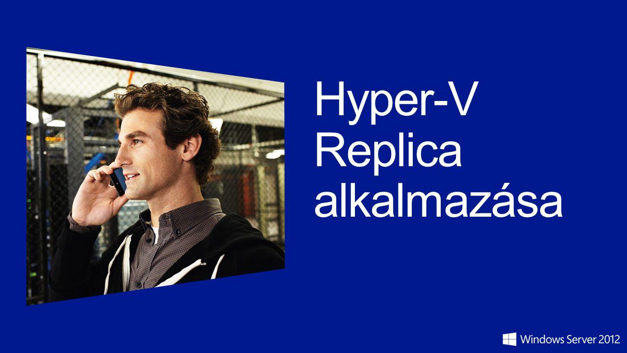 Hyper-V Replica alkalmazása