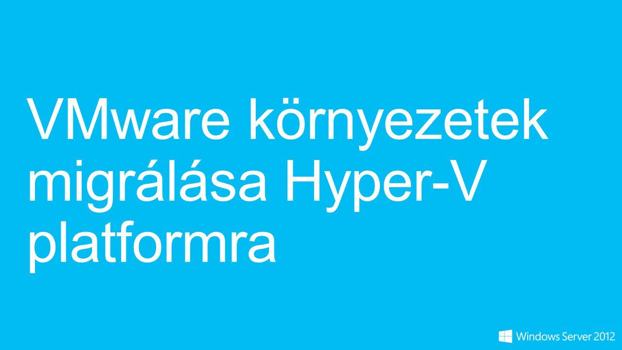 VMware környezetek migrálása Hyper-V platformra
