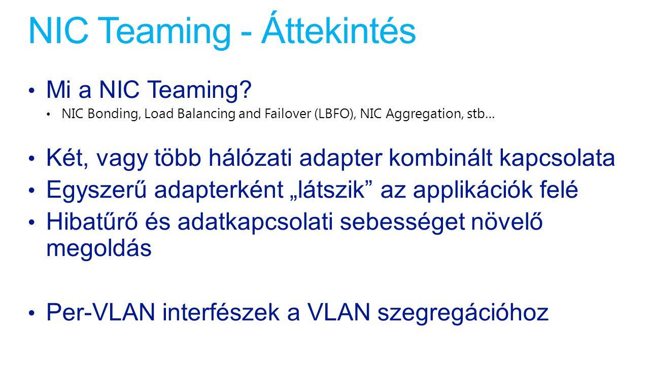 NIC Teaming - Áttekintés