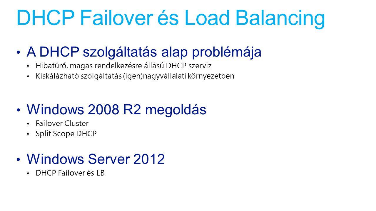 DHCP Failover és Load Balancing